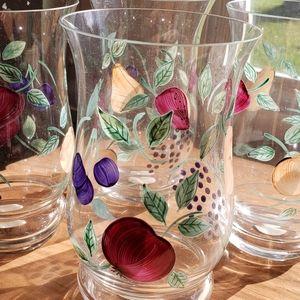 Princess House Kitchen - 4 brand new orchard medley glasses